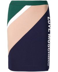 Love Moschino - Colour Block Pencil Skirt - Lyst