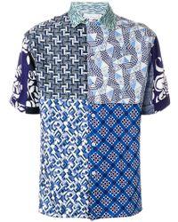 Pierre Louis Mascia - Patchwork Print Shirt - Lyst