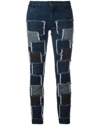 Giamba - Patches Stretched Jeans - Lyst