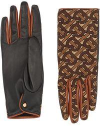 Burberry Handschoenen Met Kasjmier Voering - Bruin