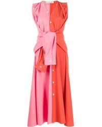 Marni Vestito bicolore - Arancione