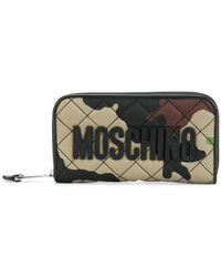 Moschino - Camouflage Zip Around Wallet - Lyst