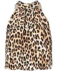 Alice + Olivia - Maris Leopard Print Top - Lyst