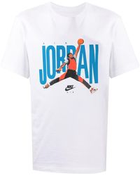 Nike T-shirt Met Print - Wit