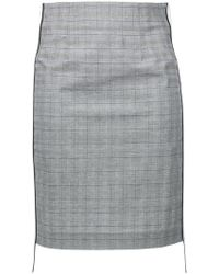 Forte Couture - Side Logo Checked Pencil Skirt - Lyst