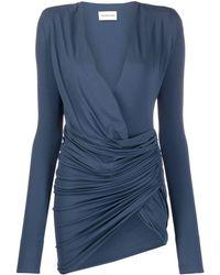 Alexandre Vauthier ドレープ ドレス - ブルー