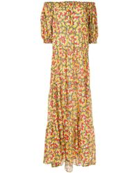 DHELA - Butterfly Print Off The Shoulder Maxi Dress - Lyst