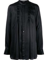 Ann Demeulemeester Long-sleeve Pleated Shirt - Black