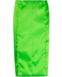 Kwaidan Editions Falda midi con cremallera - Verde