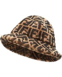 Fendi Ff Cloche Hat - Brown