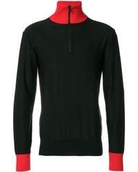 AMI Zipped Collar Sweater - Zwart
