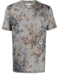 Etro フローラル Tシャツ - グレー