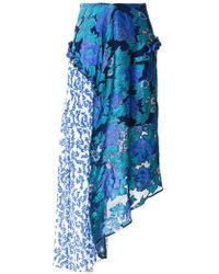 Preen By Thornton Bregazzi - Printed Flower Skirt - Lyst