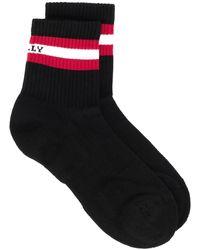 Bally Носки С Контрастной Полоской - Черный