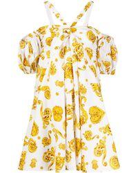 Versace Jeans Couture Расклешенное Платье С Принтом Baroque - Белый