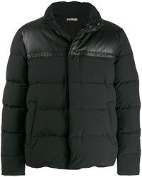 Bottega Veneta クロップド ライダースジャケット - ブラック