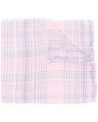 Polo Ralph Lauren フリンジ チェック スカーフ - ピンク