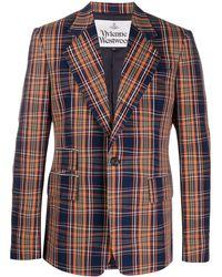 Vivienne Westwood チェック ジャケット - ブルー