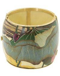 Silvia Furmanovich 18kt Yellow Gold Marquerty Leaf Bangle Bracelet - Metallic