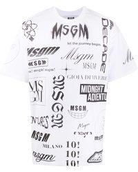 MSGM ロゴ Tシャツ - ホワイト