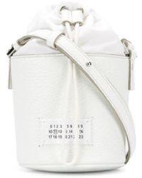 Maison Margiela グレインレザーバケットバッグ - ホワイト
