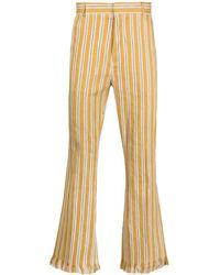 Cmmn Swdn Hose mit Streifen-Print - Gelb