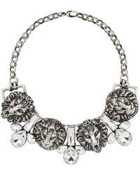 Gucci - Halskette mit Löwenköpfen - Lyst