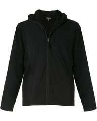 James Perse Hooded Zip-up Jacket - Black