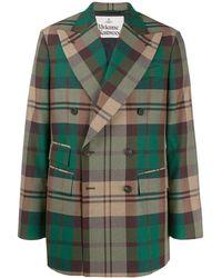 Vivienne Westwood Tartan Pattern Blazer - Green