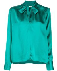 Forte Forte Pussy-bow Blouse - Green
