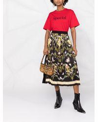 Versace Jeans Couture Falda midi con motivo barroco - Negro
