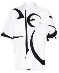 Givenchy Chemise oversize à motif contrastant - Blanc