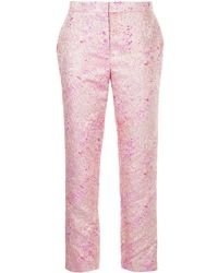SemSem - Paint Splatter Metallic Trousers - Lyst