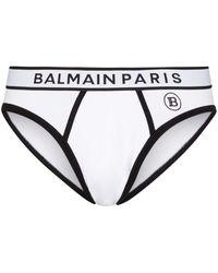 Balmain ロゴ ブリーフ - ホワイト