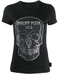 Philipp Plein Футболка С Круглым Вырезом - Черный