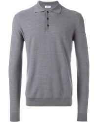 Fashion Clinic Polo Collar Fine Knit Jumper - Grey