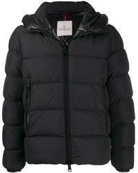 Moncler フーデッド パデッドジャケット - ブラック