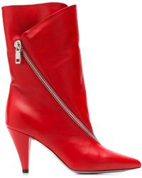 Givenchy Zipped Mid-heel Boots - Red