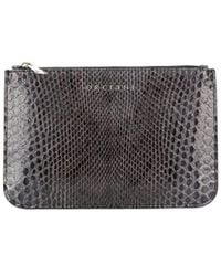 Orciani Snake-embossed Wallet - Gray