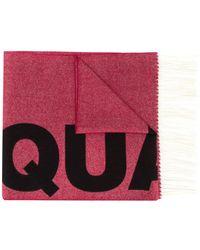 DSquared² Bufanda de jacquard con logo - Rojo