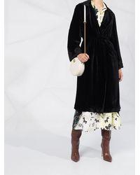 Etro Бархатное Пальто С Вышивкой - Черный