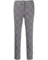 Peserico Polka-dot Print Trousers - Blue