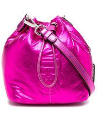 Karl Lagerfeld Сумка-ведро K/ikonik С Эффектом Металлик - Розовый