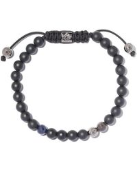 Shamballa Jewels - 18kt White Gold, Blue Sapphire & Black Diamond Beaded Non-braided Bracelet - Lyst