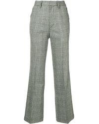 Kolor チェック パンツ - グレー