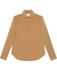 Gucci - Жаккардовая Рубашка С Узором GG - Lyst