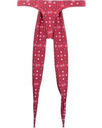 Gcds Bikini con estampado de bandana - Rojo