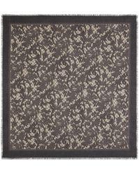 Gucci Arabesque print modal silk shawl - Marron