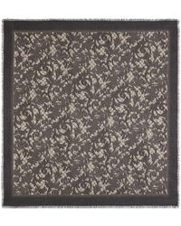 Gucci Arabesque Print Modal Silk Shawl - Brown