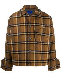 ADER error Plaid Flannel Shirt - Brown